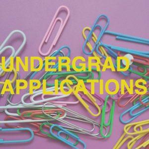 Undergrad applications